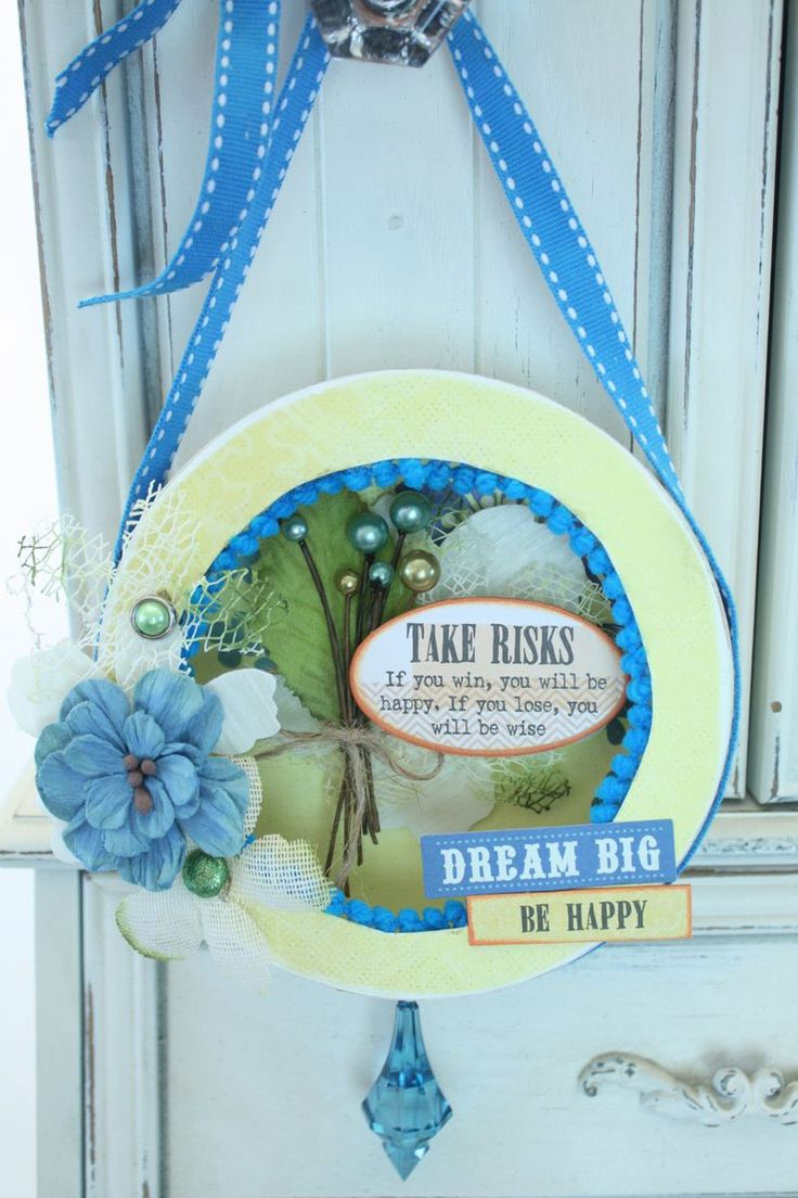 Come see the ALTERED DOOR HANGER ~ created by Denise Hahn featuring beautiful Petaloo flowers and berries along with Calypso paper from Quick Quotes!