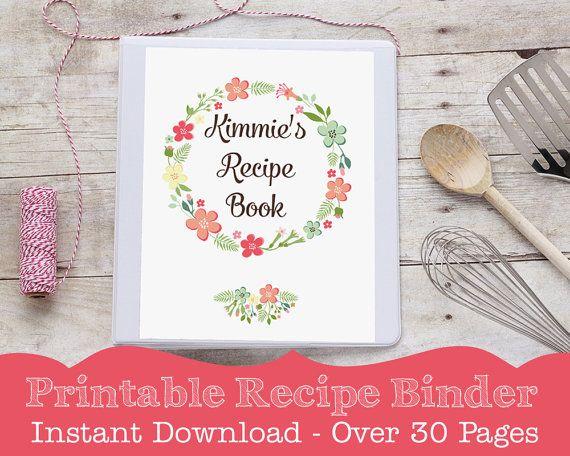 Book Cover Forros Recipe : Recipe binder printable book by studio