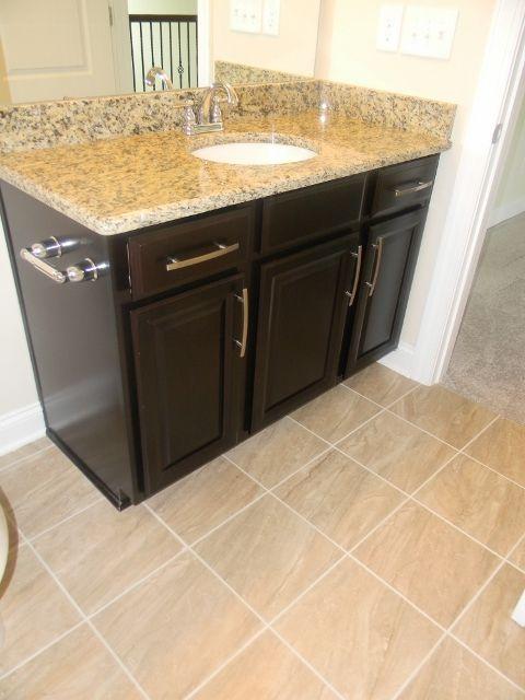Timberlake Scottsdale Maple Espresso Cabinets, Santa Cecilia Granite, Dal  Tile Florentine Niciolla Flooring