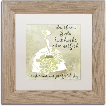 Trademark Fine Art Southern Belles Two Canvas Art by Color Bakery White Matte, Birch Frame, Beige