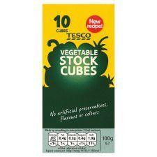 Tesco 10 Vegetable Stock Cubes 100g