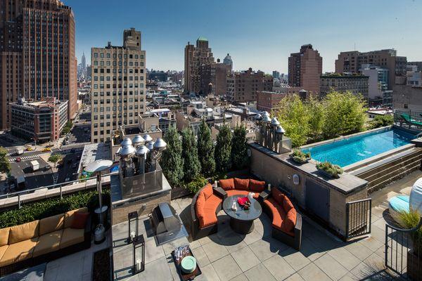 Penthouses: 66 Leonard Street, Amazing Tribeca Rooftop Penthouse, New York City