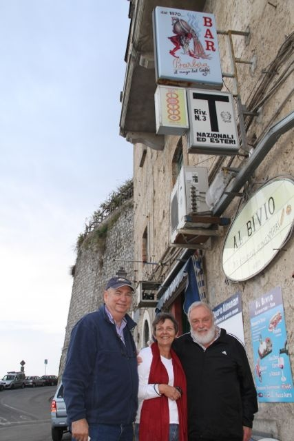 Barbera served in a small shop on Amalfi coast in Ravello (Salerno)
