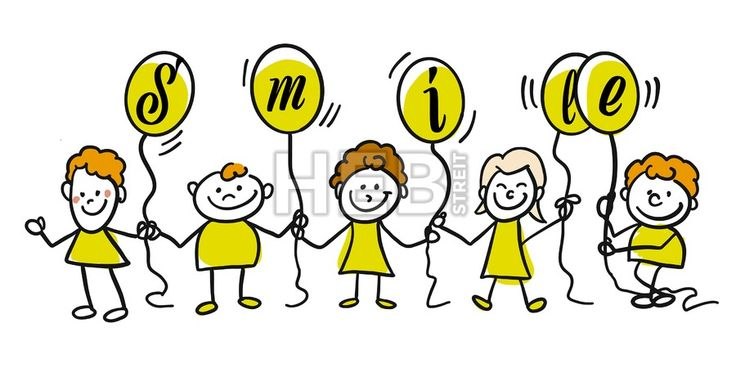 Dont worry be happy doodle kids. Hand-drawn sketches doodles in beautiful outfits and costumes. Modern vector illustration isolated in cartoon style.... ... #vector #doodle #sign #kids #kindergarten #sign #graphic #banner #design #hebstreit