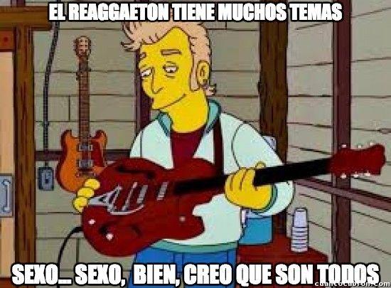 El único tema del reggaeton        Gracias a http://www.cuantocabron.com/   Si quieres leer la noticia completa visita: http://www.estoy-aburrido.com/el-unico-tema-del-reggaeton/