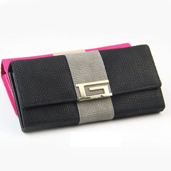 Solid Hasp Closure with Standard PU Leather Wallets