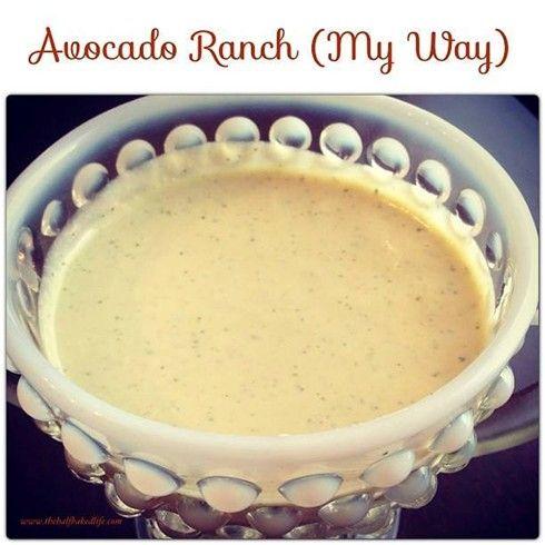 Avocado Ranch( WEIGHT WATCHER ) | Recipe Binder