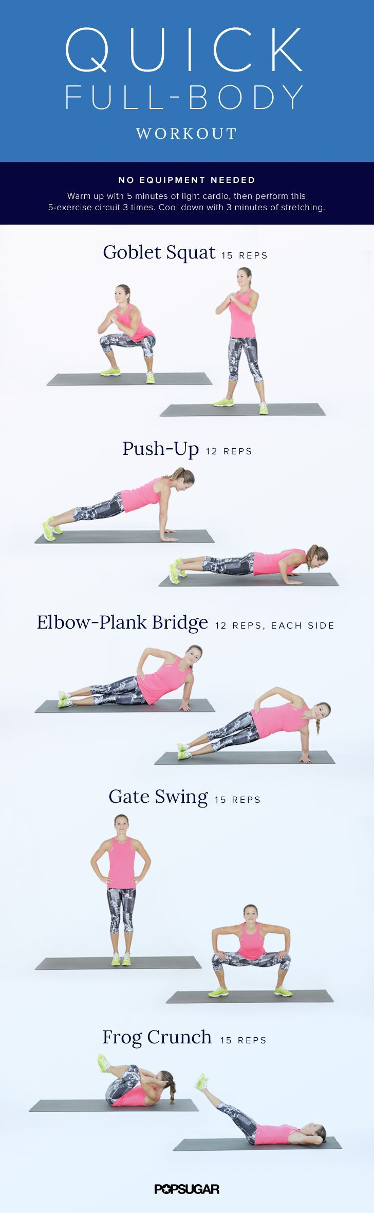 A Quick Full-Body Workout — No Equipment, No Excuses