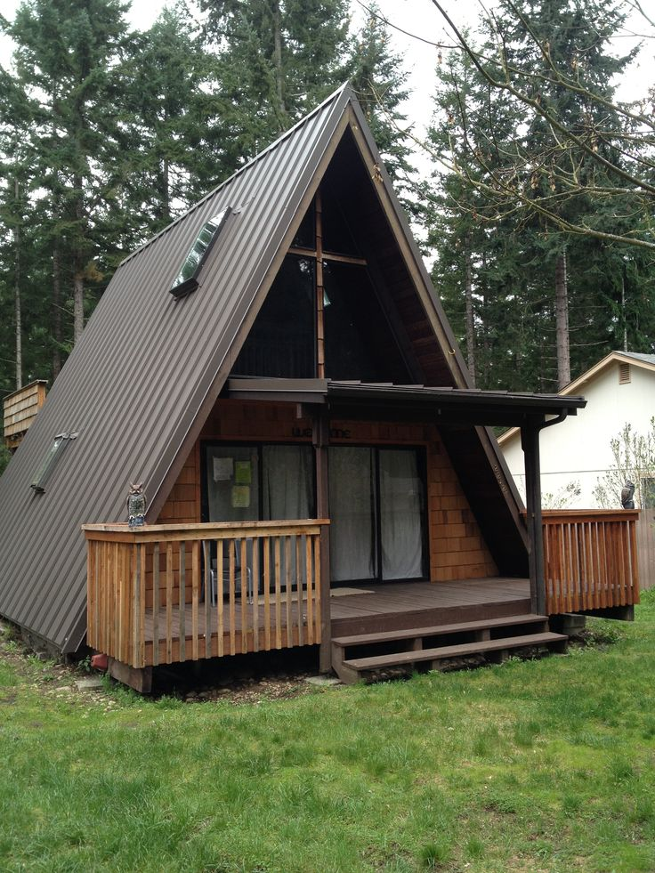 Metal roofs in the puget sound cabin inspiration for Steel frame cabin