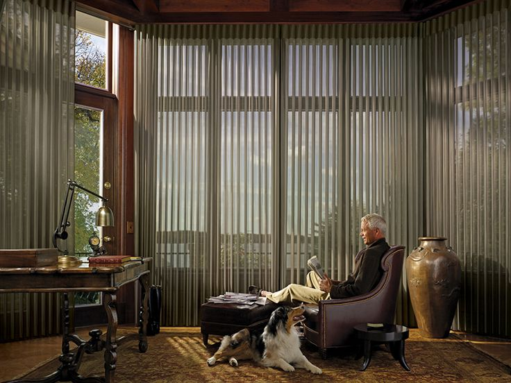 Enhance Living Everyday With The Companionship Of A Dog And The Light  Filtering Beauty Of Luminette® Privacy Sheers ♢ Hunter Douglas Window  Treatments