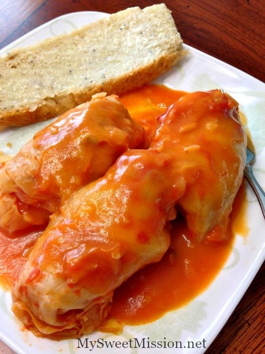 Our Hungarian Stuffed Cabbage has tender cabbage leaves stuffed with savory lean ground pork, that's smothered with an amazing bacon tomato rántás sauce!