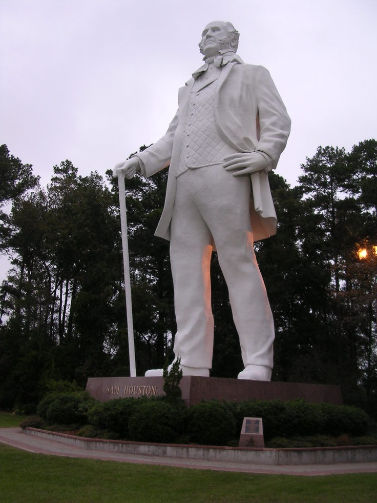 The boys like the 65 ft. tall Sam Houston statue in Huntsville, Texas