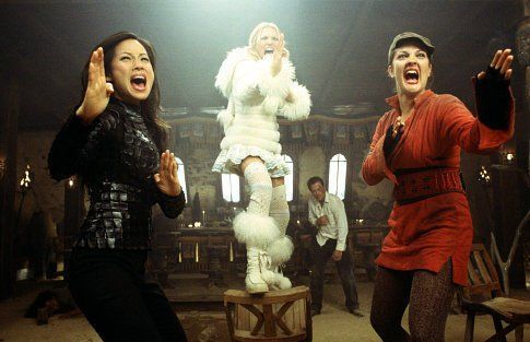 Still of Drew Barrymore, Cameron Diaz and Lucy Liu in Charlie's Angels: Full Throttle (2003)