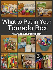 Toddler Items to put in your Tornado Preparation Kit