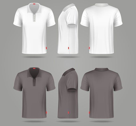 Mens polo t-shirt views by MicroOne on @creativemarket