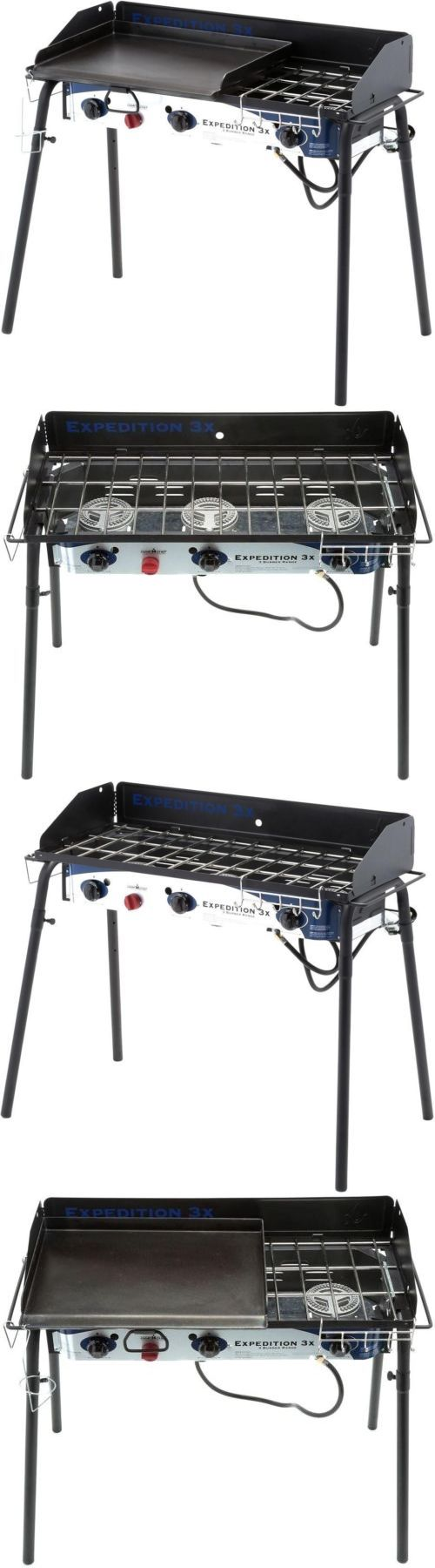 Camping BBQs and Grills 181388: 3-Burner Propane Gas Grill Griddle Camp Tailgate Wind Shield Cooker Heat Stove -> BUY IT NOW ONLY: $281.58 on eBay!