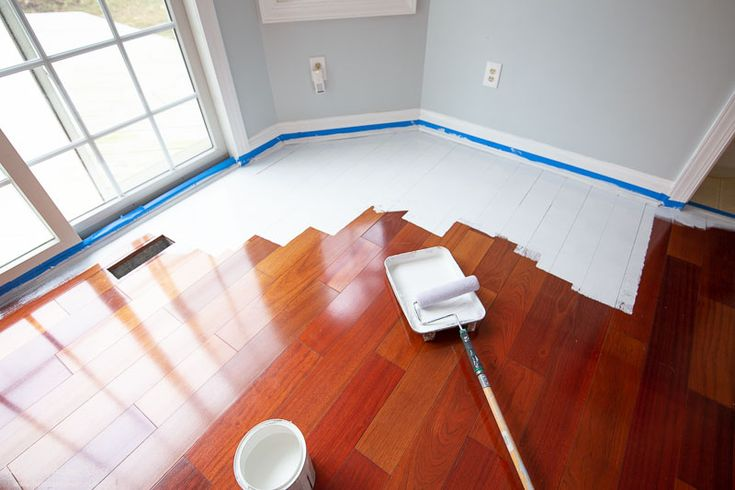 How to paint wood floorswithout sanding in 2020 with