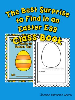 Easter WritingEaster Class Book- The Best Surprise to Find in an Easter Egg