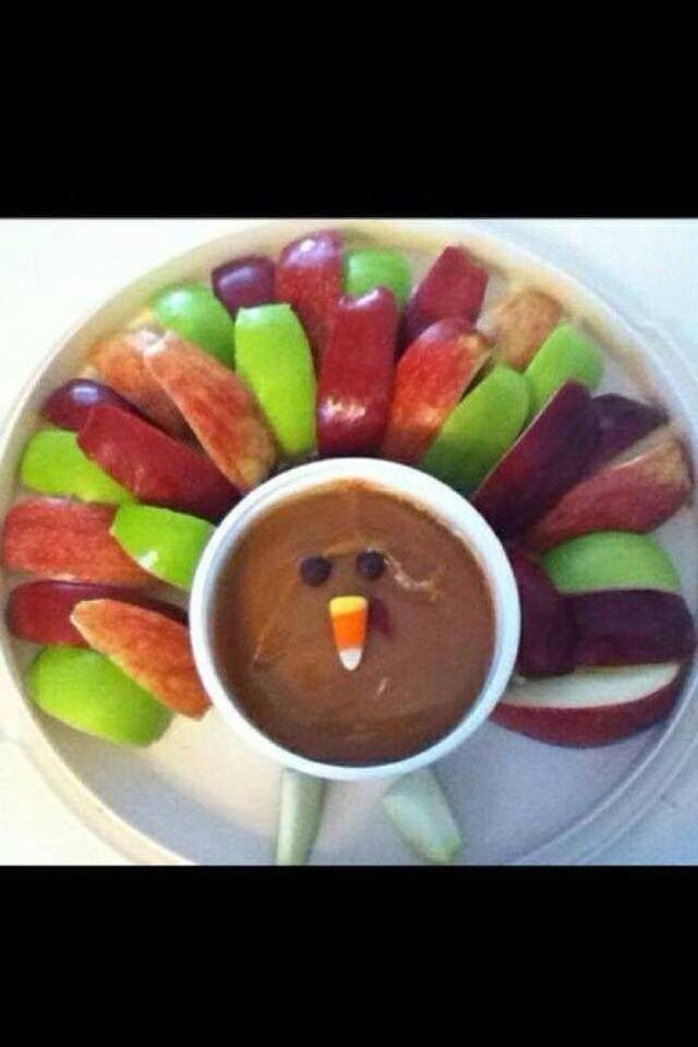 Carmel & apples! Perfect for a Thanksgiving snack!