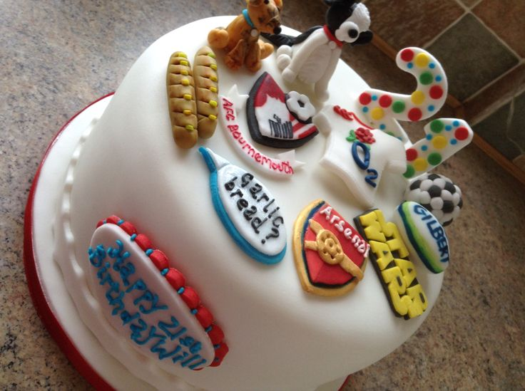 21st Birthday a Cake-StarWars, football,rugby,dogs and Peter Kay.