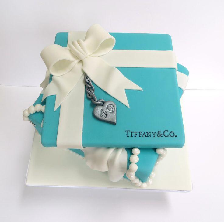 Tiffany & Co 40th Birthday Cake