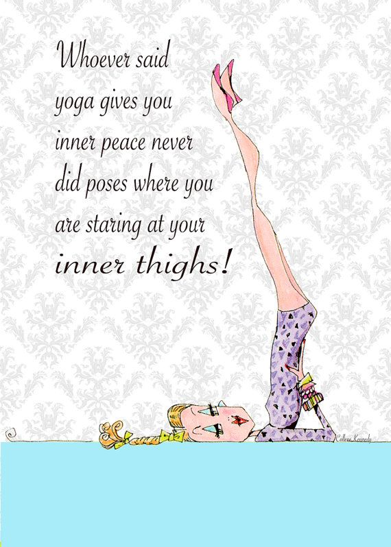 Yoga Art Woman Humor 5 x 7 print by VanityGallery on Etsy, $8.00