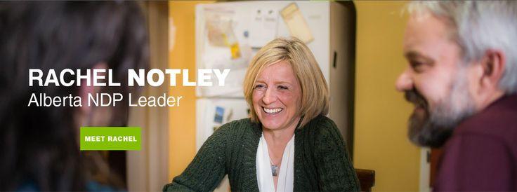 Alberta NDP leader - Rachel Notley