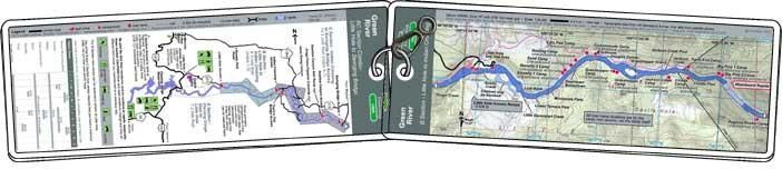 TroutMap RiverGuides B & C Sections Green River