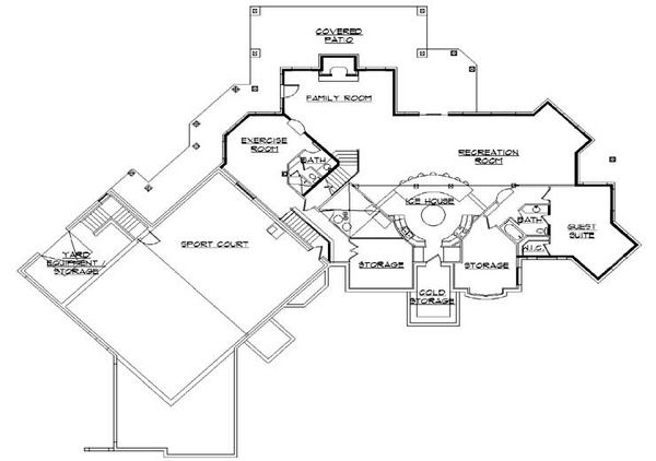 European Style House Plan 6 Beds 7 Baths 5683 Sq Ft Plan 5 449 House Floor Plans House Plans Floor Plans