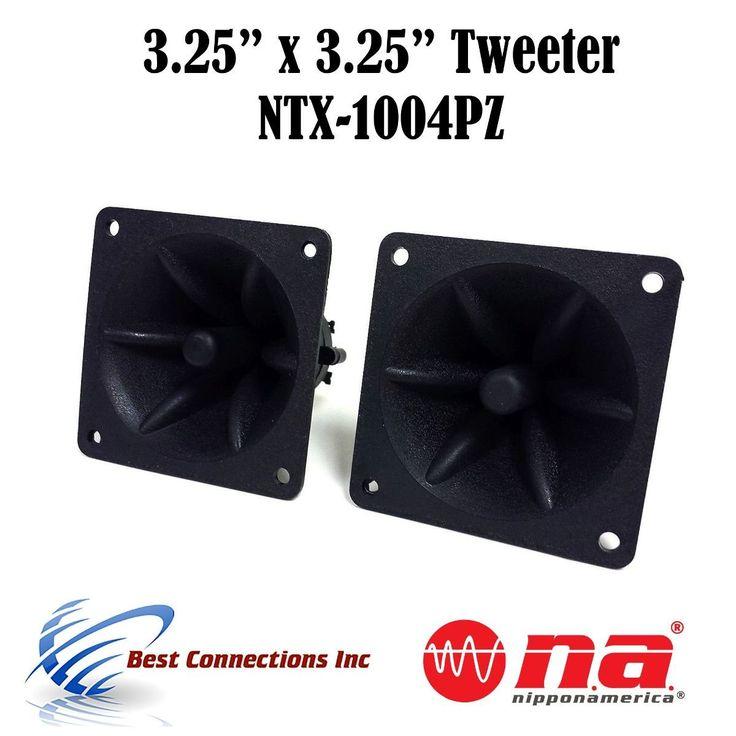 "1 Pair of 3.25"" x 3.25"" Piezo Tweeter Element DJ Speaker Car Audio Square Single Super Horn NTX-1004PZ. Two pieces 3.25"" x 3.25"" Piezo Tweeter. Fequency: 4K - 20KHz. Impendance: 4 - 8 Ohm. 30 watts Peak power (each). FREE SHIPPING."