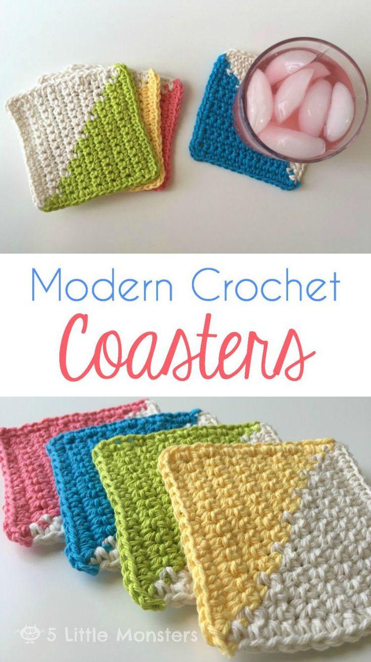 [Free Crochet Pattern] Eye-Catching And Trendy Crochet Coasters