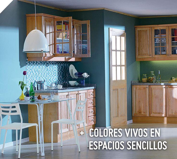 Si tu cocina es sencilla y peque a los colores vivos son for Decoracion hogar sodimac