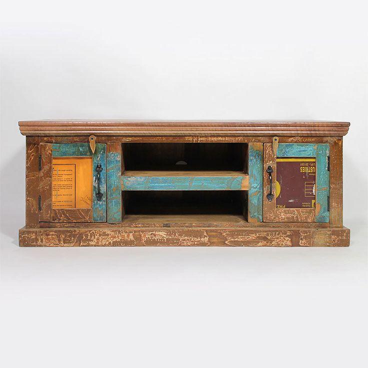 meuble tv en bois color recycl petit mod le tvs ps and originals. Black Bedroom Furniture Sets. Home Design Ideas