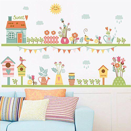 Zooarts Sweet Home Flower Fence Mural Removable Wall Stic... https://www.amazon.co.uk/dp/B01MZ6COF3/ref=cm_sw_r_pi_dp_x_p3TNybWPFXK82