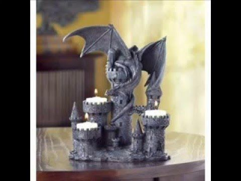 Medieval Castle Dragon Candle Holder