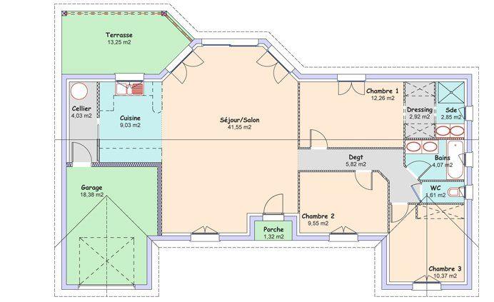 La maison Espace : 104,06 m² - Constructeur maisons MCA - 1er constructeur national de maisons - Groupe MFC