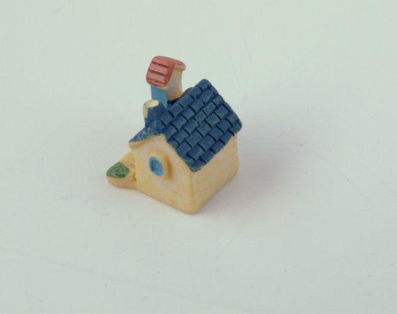 Tiny Cottage House Chimney #Miniature by AZRibbonsAndSupplies