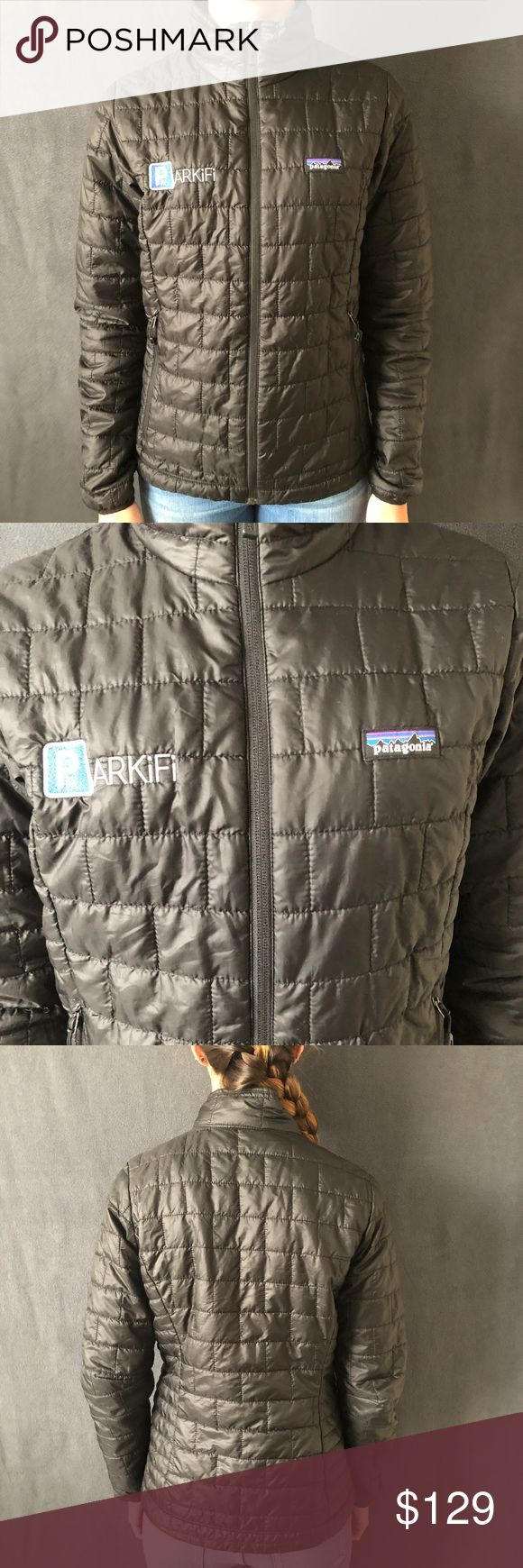 Patagonia Nano Puff Excellent condition! Very warm and lightweight. Prima loft insulation. Has a company logo on right side, so price reflects this.  ⭐️Smoke-free and pet-free home. No trades. Will answer any questions. 1-2 day shipping. BUNDLE to get more out of your shipping and to SAVE with discounts!⭐️ Patagonia Jackets & Coats