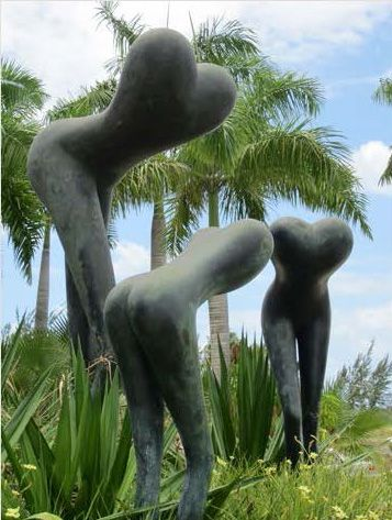 Richard Hudson - Mother and Child Bronze patina  H200 cm