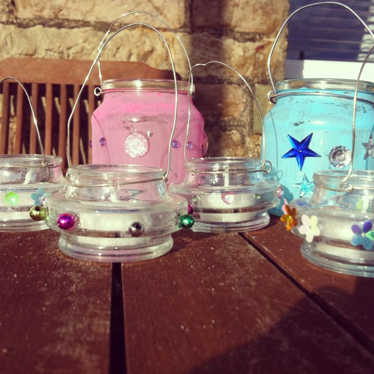 Decorating Jam Jars Tea Lights