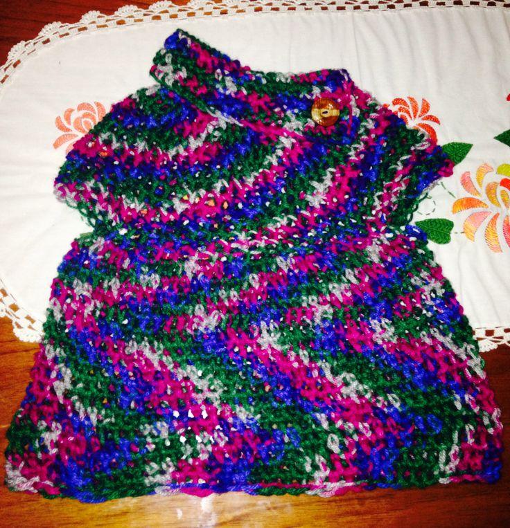 Blusa crochet tejida con los dedos
