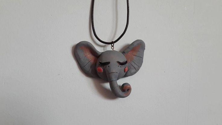 elephant necklace by hilalkosovali on Etsy