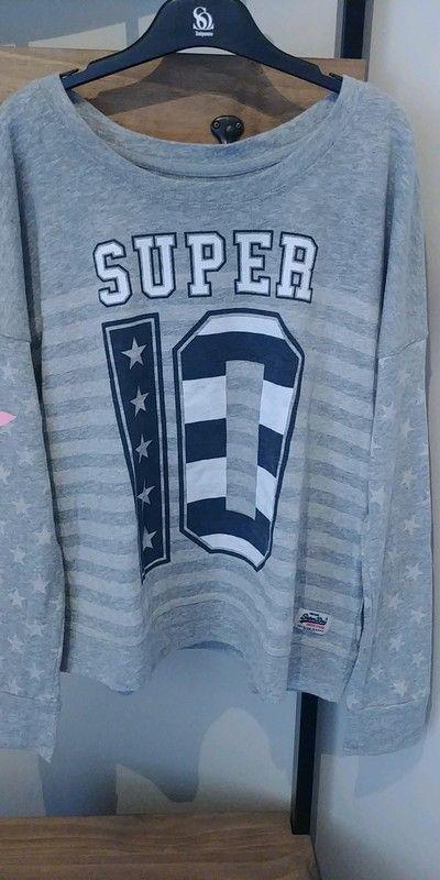 f8a2d02aa23ec Sweat femme Superdry (S) - Sweat manche longue pour femme de la marque  SUPERDRY