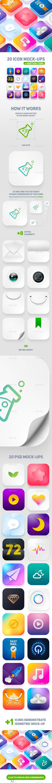 Icon App Maker  20 PSD Mock-Ups (Part 2) — Photoshop PSD #app • Download ➝ https://graphicriver.net/item/icon-app-maker-20-psd-mockups-part-2/20234568?ref=pxcr