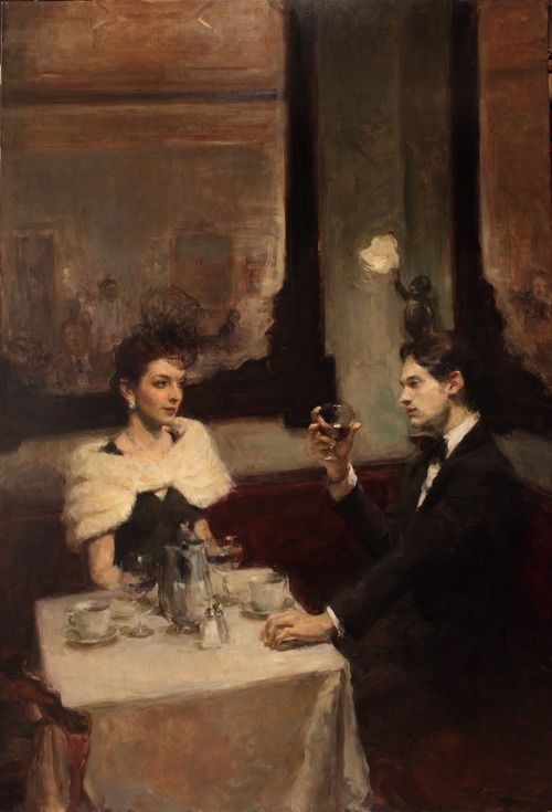 Table for Two - Ron Hicks. Ron Hicks is represented by Arcadia Gallery in NYC.
