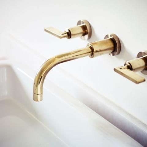 Wall Mounted Basin Taps and Spout with Lever | Bert & May