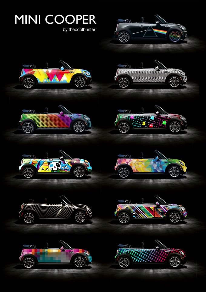 cool customized cars mini cooper car wraps by