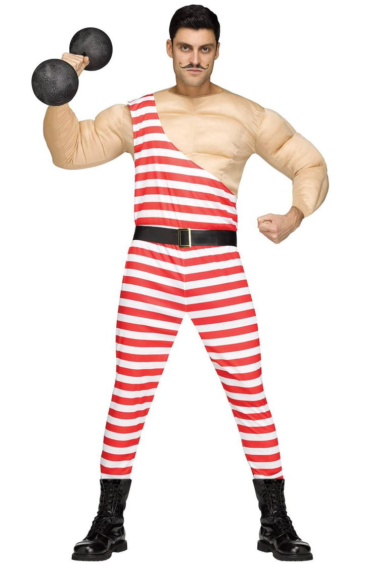Step right up to see the strongest man in the world! Only one dollar at the door to see your muscles in action this Halloween. Give the audience a show to remember dressed in this vintage strong man costume. Step into the spotlight this year and deli