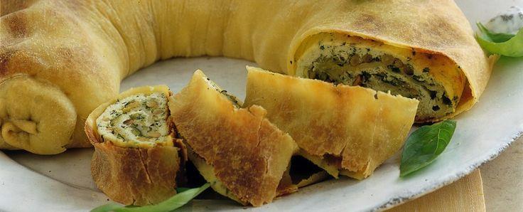 Strudel di zucchine, ricotta e basilico