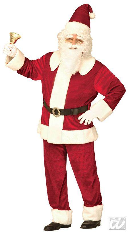 Weihnachtsmann Kostüm Deluxe Weihnachten rot-weiss aus der Kategorie Karnevalskostüme / Weihnachtskostüme. Wenn dieser nette Herr vorbeikommt, dann zeigen Sie sich lieber von Ihrer besten Seite, denn wer brav war, wird vom Weihnachtsmann reich beschenkt!
